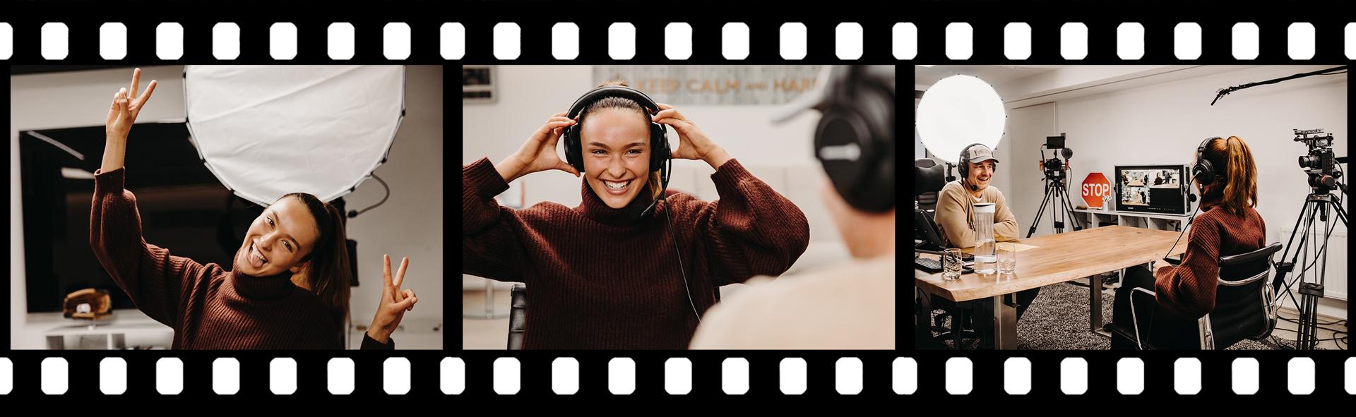 """GNTM 2020-Siegerin Jacky Wruck beim Podcast """"Performance gewinnt!"""" mit Harald Dobmayer"""